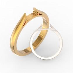 Chenier shank solid ring