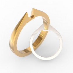Refined shank solid ring