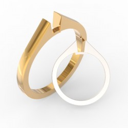 Straight shank solid ring