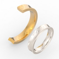 Rounded Concave Centre Wedding Band