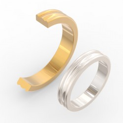 Fluted Convex Centre Wedding Band