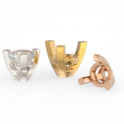 4 square tulip claw round setting standard size