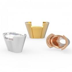 Demi-flush standard setting oval stone angle 20